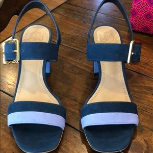 Tory Burch Palermo sandals in Provence blue